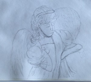 angel sketch