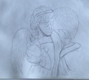 angel sketch